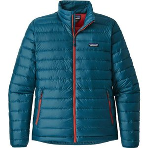 パタゴニア Patagonia メンズ ダウン・中綿ジャケット アウター Down Sweater Jacket Big Sur Blue W/Fire Red|fermart2-store