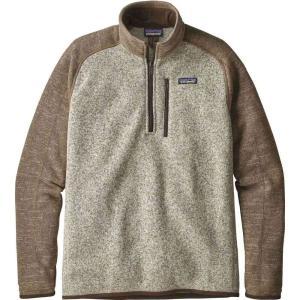 パタゴニア Patagonia メンズ フリース トップス Better Sweater 1/4 Zip Fleece Pullover Bleached Stone/Pale Khaki|fermart2-store