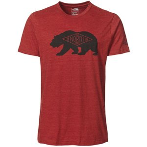 ザ ノースフェイス メンズ Tシャツ トップス Heritage Bear T-Shirt Cardinal Red Heather|fermart2-store