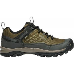 キーン メンズ シューズ・靴 ハイキング・登山 KEEN Saltzman Waterproof Hiking Shoes Dark Olive/Black|fermart2-store