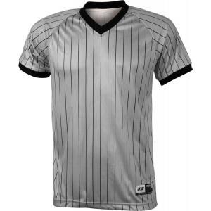 3N2 メンズ トップス 野球 Adult V-Neck Umpire Shirt Black/Base Gray|fermart2-store