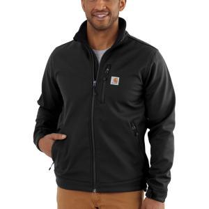 カーハート Carhartt メンズ ジャケット ソフトシェルジャケット アウター crowley softshell jacket Black fermart2-store