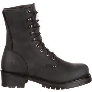 ジョージアブーツ メンズ シューズ・靴 ハイキング・登山 Georgia Boot Logger Work Boots Black|fermart2-store