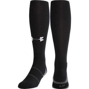 アンダーアーマー ユニセックス アメリカンフットボール Team Football OTC Socks 2 Pack Black|fermart2-store