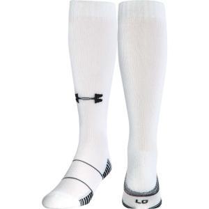 アンダーアーマー ユニセックス アメリカンフットボール Team Football OTC Socks 2 Pack White|fermart2-store