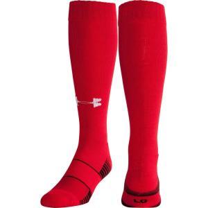 アンダーアーマー ユニセックス アメリカンフットボール Team Football OTC Socks 2 Pack Red|fermart2-store