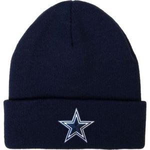 ダラス カウボーイズ Dallas Cowboys メンズ ニット 帽子 Merchandising Basic Cuff Navy Knit|fermart2-store