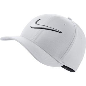 ナイキ メンズ キャップ 帽子 Nike Classic99 Swoosh Golf Hat White|fermart2-store