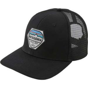 パタゴニア Patagonia メンズ キャップ 帽子 Fitz Roy Hex Trucker Hat Black|fermart2-store