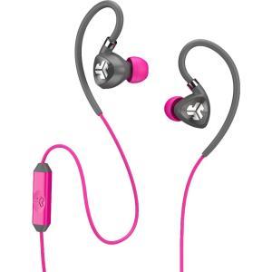 ジェイラボ ユニセックス テックアクセサリー JLab Fit 2.0 Sport Earbuds Grey/Pink|fermart2-store