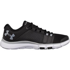 アンダーアーマー メンズ シューズ・靴 フィットネス・トレーニング Under Armour Strive 7 Training Shoes Black/White|fermart2-store
