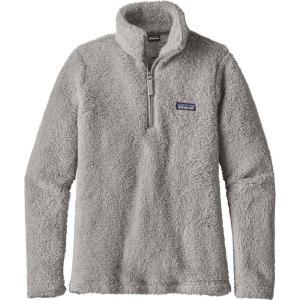 パタゴニア レディース フリース トップス Patagonia Los Gatos Quarter Zip Fleece Pullover Drifter Grey|fermart2-store