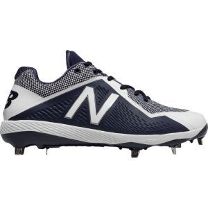 ニューバランス メンズ シューズ・靴 野球 New Balance 4040 V4 Metal Baseball Cleats Navy/White|fermart2-store