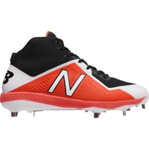 ニューバランス メンズ シューズ・靴 野球 New Balance 4040 V4 Mid Metal Baseball Cleats Orange/Black|fermart2-store