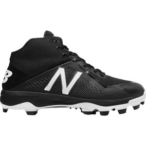 ニューバランス メンズ シューズ・靴 野球 New Balance 4040 V4 Mid TPU Baseball Cleats Black/Black|fermart2-store