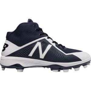 ニューバランス メンズ シューズ・靴 野球 New Balance 4040 V4 Mid TPU Baseball Cleats Navy/White|fermart2-store