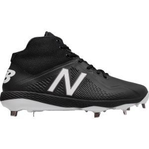 ニューバランス メンズ シューズ・靴 野球 New Balance 4040 V4 Mid Metal Synthetic Baseball Cleats Black/Black|fermart2-store