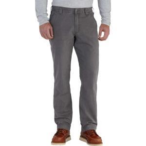 カーハート Carhartt メンズ オーバーオール ダンガリー ボトムス・パンツ rugged flex rigby dungaree pants Gravel|fermart2-store