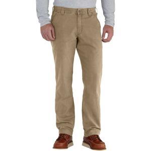 カーハート Carhartt メンズ オーバーオール ダンガリー ボトムス・パンツ rugged flex rigby dungaree pants Dark Khaki|fermart2-store