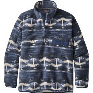 パタゴニア Patagonia メンズ フリース トップス Synchilla Snap-T Fleece Pullover Shepherd Knit/Stone Blue|fermart2-store
