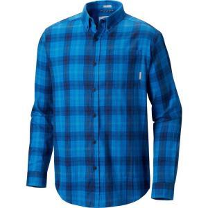 コロンビア Columbia メンズ 長袖Tシャツ トップス Cooper Lake Long Sleeve Shirt Azul Plaid|fermart2-store