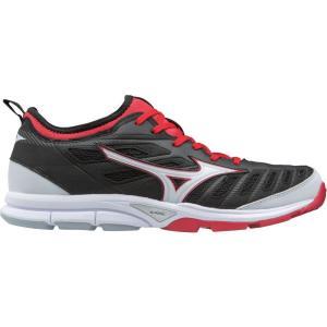 ミズノ メンズ シューズ・靴 野球 Mizuno Players Trainer 2 Baseball Shoes Black/Red|fermart2-store