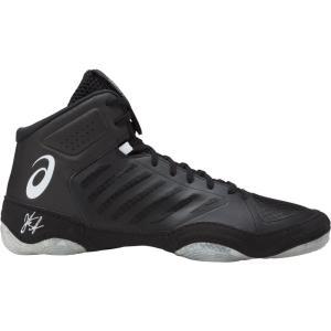 アシックス メンズ シューズ・靴 レスリング ASICS JB Elite V3 Wrestling Shoes Black/White|fermart2-store