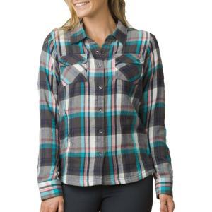 プラーナ prAna レディース ブラウス・シャツ トップス Bridget Long Sleeve Shirt Gravel|fermart2-store