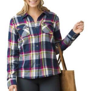 プラーナ prAna レディース ブラウス・シャツ トップス Bridget Long Sleeve Shirt Dusk Blue|fermart2-store