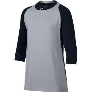 ナイキ Nike メンズ トップス 野球 Pro Cool Reglan -Sleeve Baseball Shirt Black/Grey|fermart2-store
