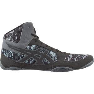アシックス メンズ シューズ・靴 レスリング ASICS Snapdown 2 Wrestling Shoes Black/Grey|fermart2-store
