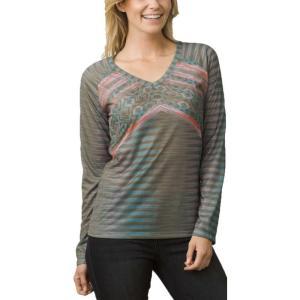 プラーナ レディース 長袖Tシャツ トップス prAna Baseball Portfolio Long Sleeve Shirt Cargo Green Tribe|fermart2-store