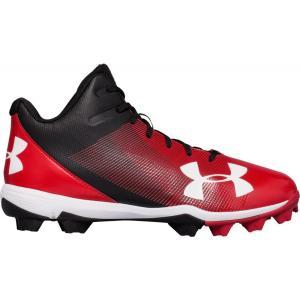 アンダーアーマー メンズ シューズ・靴 野球 Leadoff Mid RM Baseball Cleats Black/Red|fermart2-store