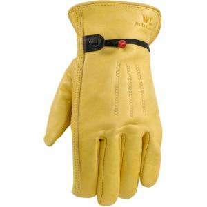 ウェルズラモント ユニセックス グローブ スキー・スノーボード Palomino Grain Cowhide Work Gloves Tan|fermart2-store