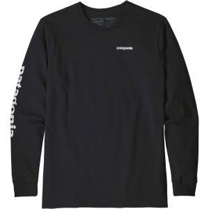 パタゴニア Patagonia メンズ 長袖Tシャツ トップス Text Logo Responsibili-Tee Long Sleeve Shirt Black|fermart2-store