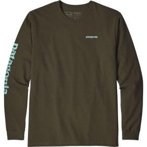 パタゴニア Patagonia メンズ 長袖Tシャツ トップス Text Logo Responsibili-Tee Long Sleeve Shirt Sediment|fermart2-store
