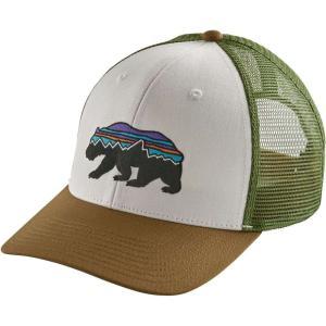 パタゴニア ユニセックス キャップ 帽子 Fitz Roy Bear Trucker Hat White/Coriander|fermart2-store