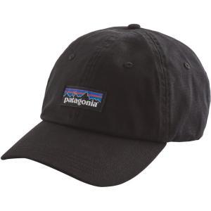 パタゴニア ユニセックス 帽子 P-6 Label Trad Cap Black|fermart2-store