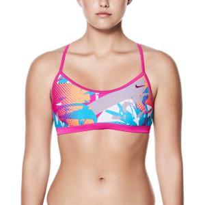 ナイキ レディース トップのみ 水着・ビーチウェア Drift Graffiti Crossback Bikini Top Fuchsia Blast fermart2-store