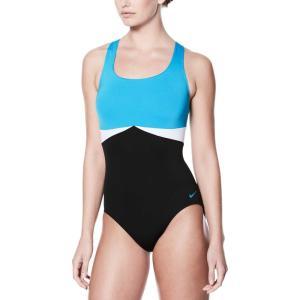 ナイキ レディース ワンピース 水着・ビーチウェア Color Surge Crossback Swimsuit Lt Blue Fury|fermart2-store