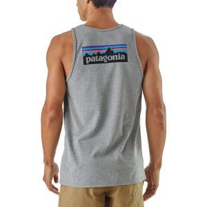 パタゴニア メンズ タンクトップ トップス P-6 Logo Responsibili-Tee Tank Top Gravel Heather|fermart2-store