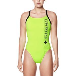 ナイキ レディース ワンピース 水着・ビーチウェア Nike Guard Racerback Swimsuit Volt fermart2-store