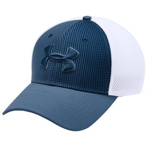 アンダーアーマー Under Armour メンズ キャップ 帽子 Threadborne Mesh Golf Hat Thunder/White/Petrol Blue|fermart2-store