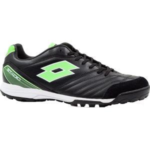 ロット メンズ シューズ・靴 サッカー Lotto Stadio 300 TF Soccer Cleats Black/Green|fermart2-store