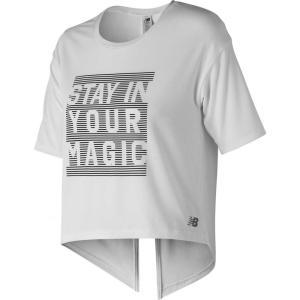 ニューバランス New Balance レディース Tシャツ トップス Release Layer T-Shirt White|fermart2-store