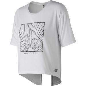 ニューバランス New Balance レディース Tシャツ トップス Release Layer T-Shirt White Multi|fermart2-store