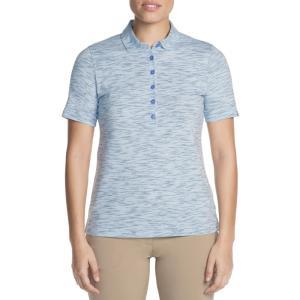 スケッチャーズ レディース トップス ゴルフ Skechers Go Golf Space Dye Golf Polo Light Blue|fermart2-store