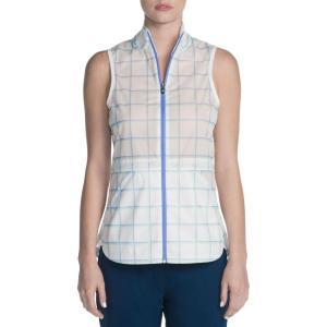 スケッチャーズ レディース ベスト・ジレ トップス Go Golf GO Shield Jubilee Golf Vest White|fermart2-store