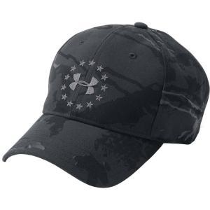 アンダーアーマー メンズ キャップ 帽子 Under Armour Freedom 2.0 Baseball Hat Black|fermart2-store