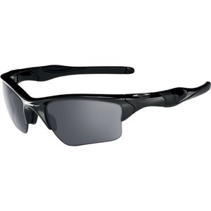 オークリー ユニセックス メガネ・サングラス Oakley Adult Half Jacket 2.0 XL Sunglasses Polished Black/Black Iridium|fermart2-store